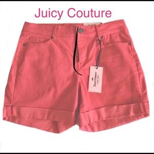 Juicy Couture 🌸🌸SZ 2 Shorts Cayenne Coral NWT